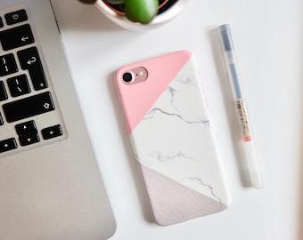 Sale Marble Hard Back iPhone Case SE 5 5s 6s 6plus 6splus 7 7plus 8 8plus geometric phone case phone cases // geometric valentines gift idea