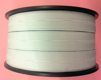 50 cm of elastic white 20 mm adjustable buttonhole T30