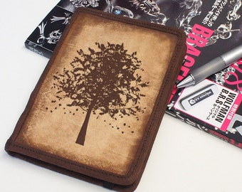 Kindle Leather Cover - Autumn Tree - Customizable - Free Personalization