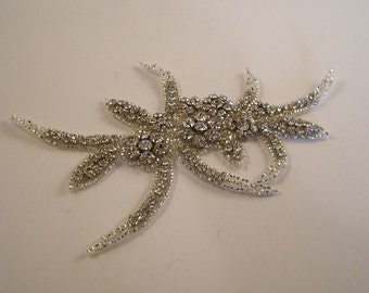 Rhinestone Encrusted Applique--Exotic Design--One Piece