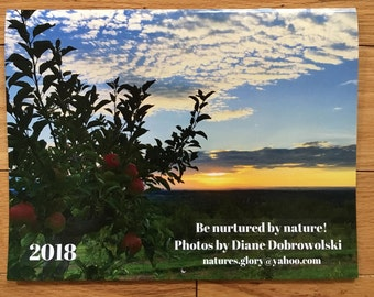2018 11 x 17 Photo Wall Calendar, Nature Calendar, Gifts under 25, flower calendar, Photo Calendar, Ocean Calendar, Wall Calendar