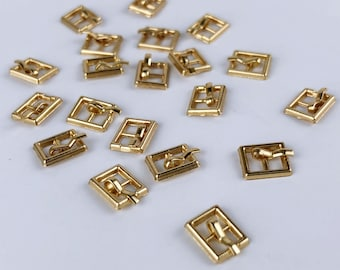 B004C Gold Color Mini Buckles Doll Sewing Craft Belt Purse Coat Doll Clothes Making Sewing Supply