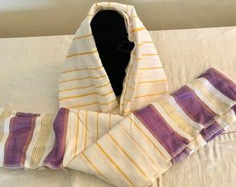 Cotton Stripe Ethiopian Scarf