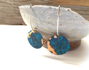 Verdigris Patina Copper Earrings