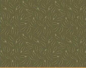 Windham The Blue and The Grey Green with dots Accents Civil War Reproduction  42152-5 Fabric BTY