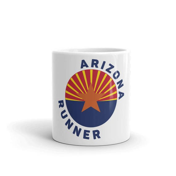 Arizona Runner Mug - Run Arizona - 11 oz or 15 oz - Coffee Mug's for Runners