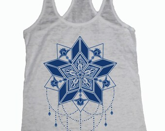 Women's STARFLYER Tank Sacred Geometry Tattoo 5 pointed star Chandelier shirt