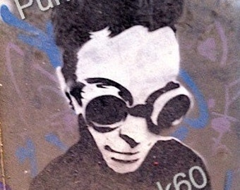 Photographed Street Art-Europe Graffiti Guy with Goggles Print Fine Art Photography