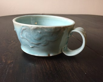 Porcelain Aqua Blue Cloud Mug