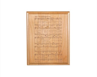 Old Rugged Cross Hymn Plaque - Engraved Solid Alder Wood - Christian Gift - Religious Wall Decor, Housewarming Gift