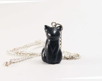 Collier petit chat noir