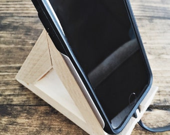 Wooden Delta Phone Stand
