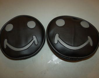 Jeep light Cover Smiley Face Black