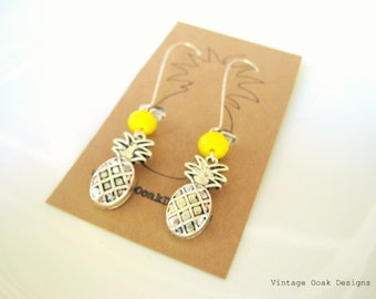 Pineapple Earrings,Long Pineapple Earrings,Pineapple Earrings,SummerEarrings,Long Earrings,Tropical Earrings,Tutti Frutti Earrings,Pineapple