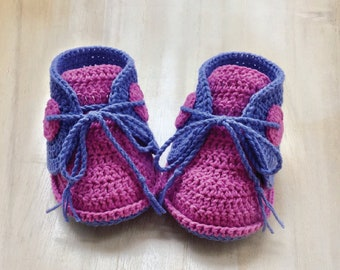 CROCHET PATTERN Baby Boat Shoes Baby Crochet Sneaker Crochet Shoe Pattern Crochet Newborn Booties (BBS02-B-PAT)