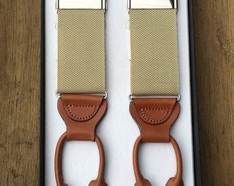 Morgan Canvas Suspenders Tan
