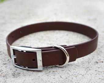 Dark Brown Biothane Buckle Dog Collar