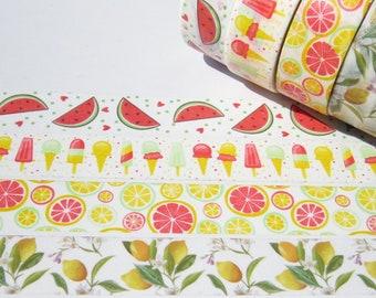4 Roll Colourful Summer Washi Tape Set