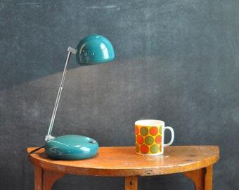 Vintage Modern  Adjustable Desk Lamp in Teal