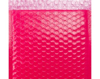 Pink Bubble Envelope Bags -  Gloss Postal Coloured Mailing Pouches