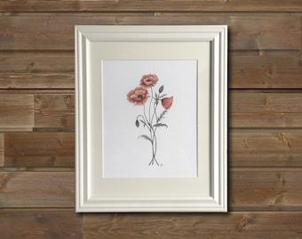 Poppies  | Framed Art Print