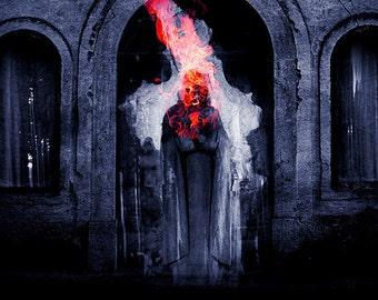 soul fire 03 - fire element - 20x20 cm. art print