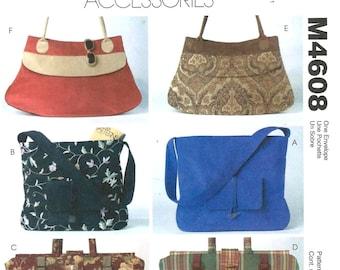 McCall's 4608 Misses' Handbags - 6 Styles - PATTERN