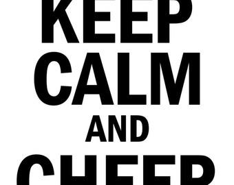 Keep Calm And Cheer Hard SVG File