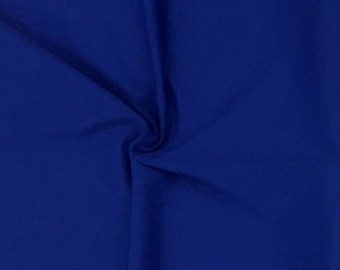 "Royal Blue Stretch Fabric SALE 4 Way Lycra Knit Jersey By the Yard x 60"" Wide"
