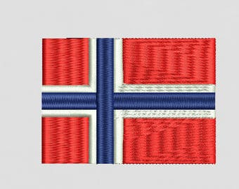 Norwegian flag embroidery file