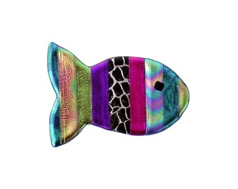 Rainbow Fish Pin, Rainbow Fish Magnet, Fish Jewelry, Christian Fish Jewelry