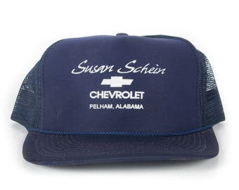 Vintage Chevrolet Trucker Cap / Alabama Automotive Hat / Blue Mens Baseball Trucker Hat Cap / Trucker Cap / Baseball Cap / Baseball Hat