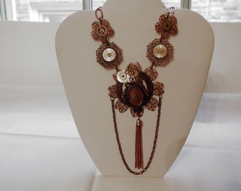 Locks and Keys Steampunk Necklace//Gift for Her//Birthday//Steampunk//Steampunk Jewelry//Necklace//Chain Link//Clockface//Locks//Keys//