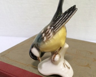 "Vintage W. Goebel ""Great Titmouse"", Kohlmeise-Bisque Figurine, W Germany"