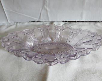 Vintage Sun PurpleGlass Dessert Dish