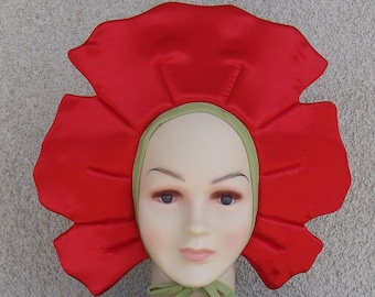 Red flower costume for toddlers, kids and adults