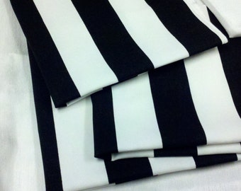 "BLACK WHITE STRIPED Table Runner,  Black white  Striped Runner, 11"" wide  36 48 60 72 84 96 108,  Nautical, Beach stripes, Wedding, Bridal"