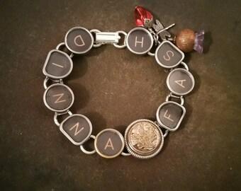 DINNA FASH - Outlander Inspired Antique Typewriter Key Bracelet