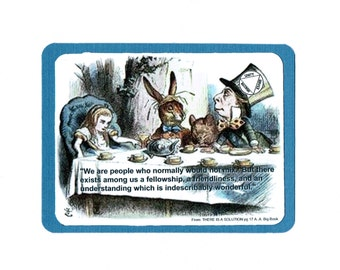 Alice in Wonderland 12 Step greeting card
