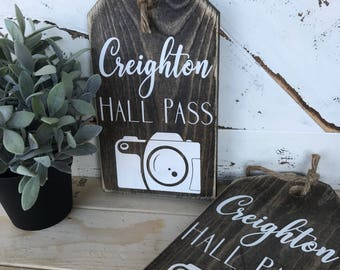 Hall passes/ school pass / school / teachers / teacher / teacher gift / rustic / wooden tags / large tags / oversized tags/ wood signs