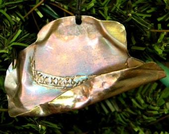 Copper Cowboy Hat Ornament