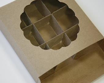 Brown Kraft Candy and Cookie Boxes - set of 10 - Great for Candy and Treats - Insert Included