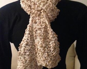 Hand Knit Designer scarf