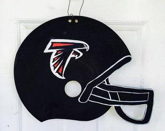 Football helmet door hanger