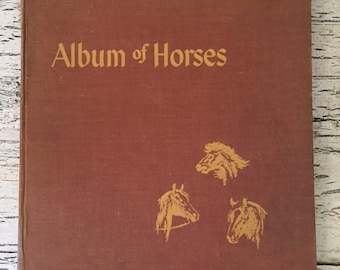 Vintage Horse Book - Album of Horses - Great Illustrations for Collecting or Art