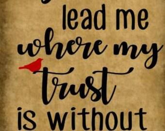 Spirit lead me stencil - 11 x18