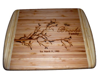 Personalized Bamboo Cutting Board Family Tree Cutting Board