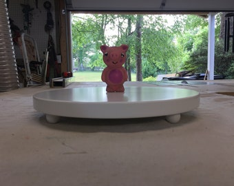 Round Custom Made Cake or Display Stand with 1 inch ball feet.