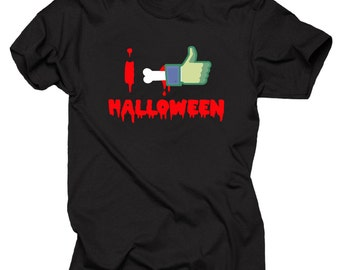 Halloween T-Shirt I Like Halloween T-Shirt Halloween Costume Tee Shirt Halloween Party