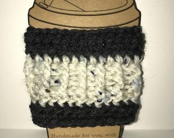 Coffee cozy,handmade crochet coffee cozy